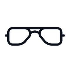 glasses icon isolated on white background glasses vector image