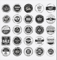 Grunge rubber stamp premium quality collection vector