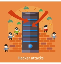 Hacker attaks vector image