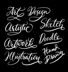 hand written typography vector image