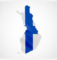 hanging finland flag in form of map republic of vector image