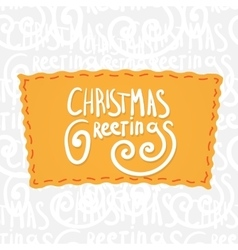 Holiday greetings lettering vector image