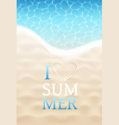 i love summer vector image