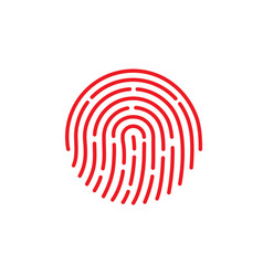 id app icon fingerprint on vector image