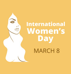 International womens day vector