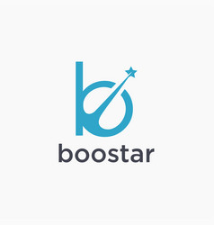 letter b for boost star logo icon vector image