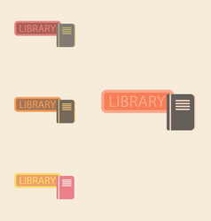 Library books set vector
