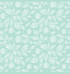 Light green abstract dots leaves seamless pattern vector