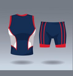 Male sport wear vector