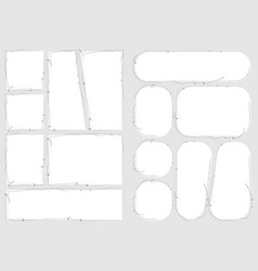 Manga set storyboard layout a4 template vector