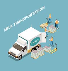 Milk transportation concept vector