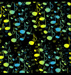Music notes and shadowabstract musical background vector