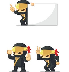 Ninja customizable mascot 3 vector