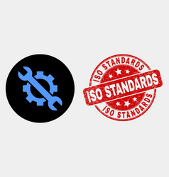 options tols icon and grunge iso standards vector image