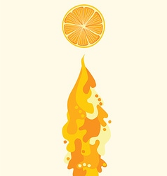 orange juice flowing liquid vector image