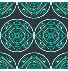 Ornamental round seamless pattern vector image