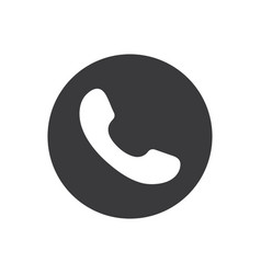 phone icon call icon black phone icon on a gray vector image