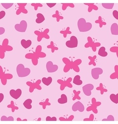 Pink Baby seamless pattern vector image