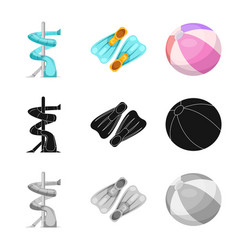 pool and swimming logo set vector image