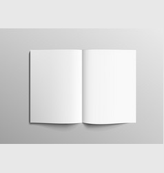 realistic clear 3d brochure magazine or book mock vector image