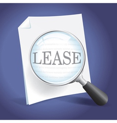 Reviewing a Lease Agreement vector