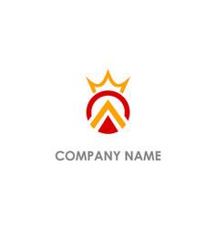 round crown company logo vector image