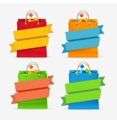 Sale Bag Labels Set vector image