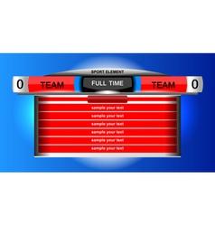 Scoreboard chart sport vector