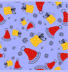seamless pattern doodle style seamless vector image