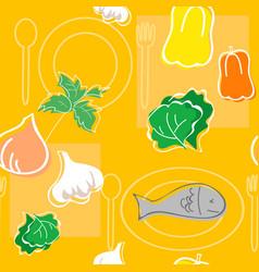 Seamless pattern food vector