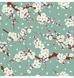 Seamless pattern with flowering branches vector