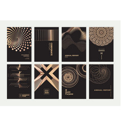 set brochures and annual reports vector image