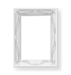 Silver frame on white background for design vector