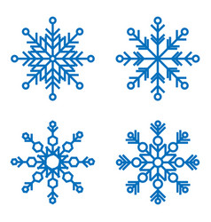 snowflakes icons snow in winter season vector image
