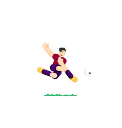 Soccer player hits the ball vector
