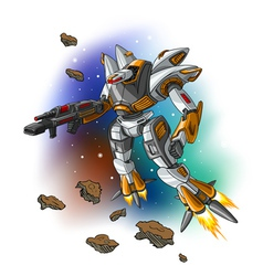 Space flying robot vector