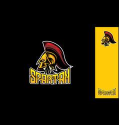 spartan esport logo icon vector image