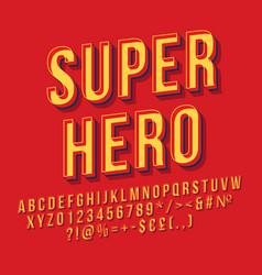 Super hero vintage 3d lettering vector