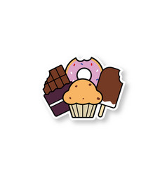 sweets patch vector image