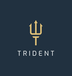 trident logo vector image