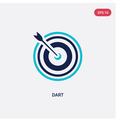 two color dart icon from outdoor activities vector image