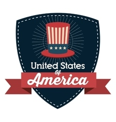 United states of america hat icon vector
