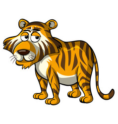 Wild tiger with sleepy eyes vector