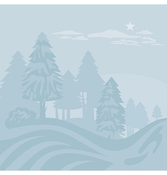 Winter Foggy Landscape vector