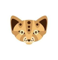Fennec Fox African Animals Stylized Geometric Head vector image