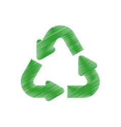 green arrow recycle environment design vector image