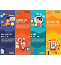 Online shopping customer and technical support vector
