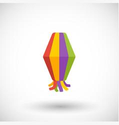 paper lantern flat icon festa junina vector image vector image