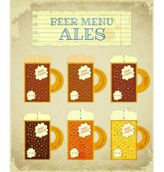 Vintage Beer Card Ales vector image vector image