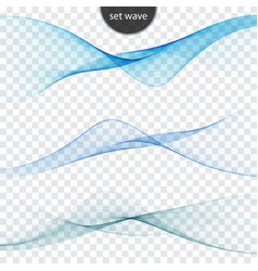 blue wave set abstract background wave vector image vector image